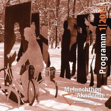 Programm 1|2014 - Melanchthon-Akademie