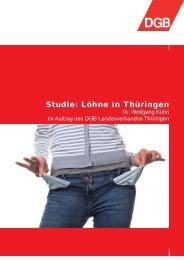 Studie: Löhne in Thüringen