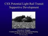 Potential Transit Supported Development Cordova, Tn - University of ...