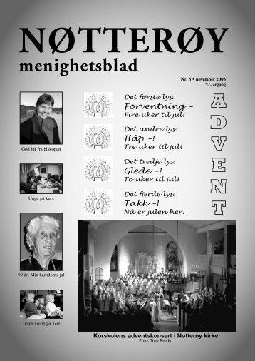 NØTTERØY menighetsblad - Menighetsbladet
