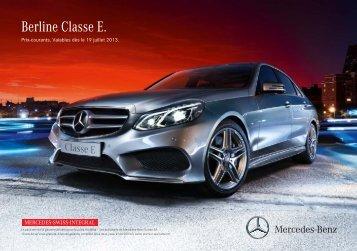 Télécharger le tarif Classe E Berline valable dès ... - Mercedes-Benz