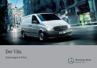 Vito Kastenwagen/Mixto Broschüre - Mercedes-Benz Schweiz