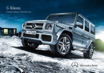 Download Preisliste G-Klasse - Mercedes-Benz Deutschland