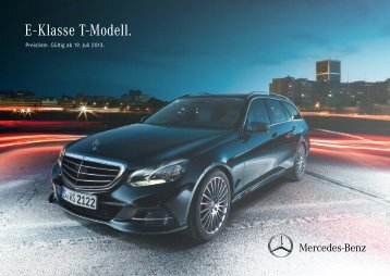 Download Preisliste E-Klasse T-Modell - Mercedes-Benz Deutschland