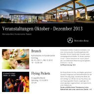 Veranstaltungskalender Oktober bis Dezember 2013