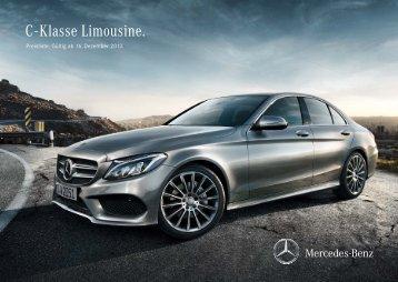 C - Klasse Limousine. - Mercedes-Benz Deutschland