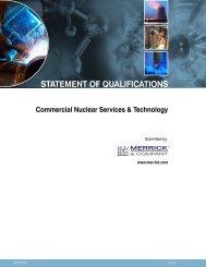 STATEMENT OF QUALIFICATIONS - Merrick & Company