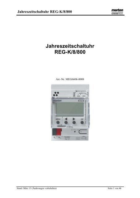 MEG6606-0008 Jahreszeitschaltuhr REG-K/8/800 - Merten