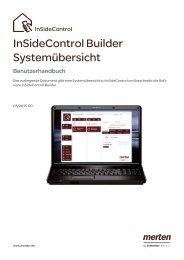 Benutzerhandbuch InSideControl Builder Systemübersicht - Merten