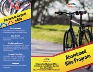 Abandoned Bicycle Program Brochure - City of Mesa
