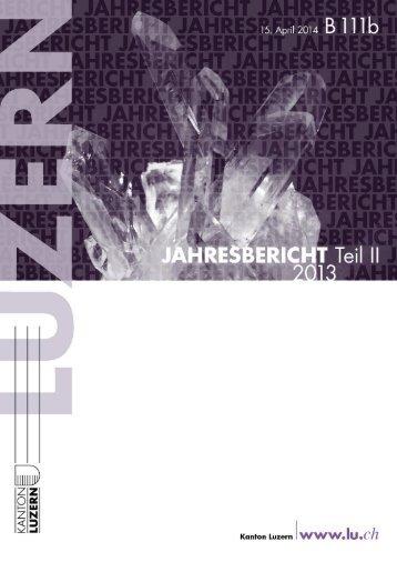 Jahresbericht Kanton Luzern 2013
