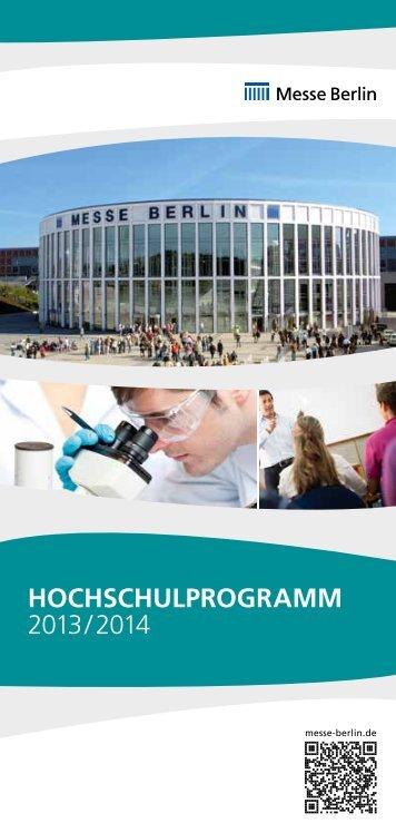 hochschulprogramm 2013/2014 - Messe Berlin