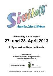 in Bad Honnef 27. und 28. April 2013