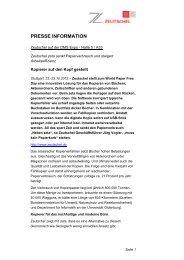 Pressemitteilung Zeutschel - Messe Stuttgart