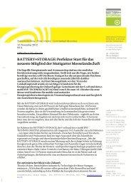 BATTERY+STORAGE: Perfekter Start für das ... - Messe Stuttgart