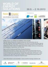 Konferenzteil Solar Energy Solutions - Messe Stuttgart