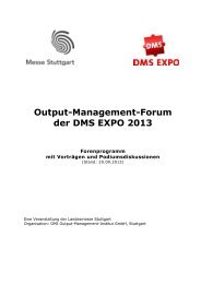 Output-Management-Forum DMS Expo 2013 (Stand: 20.09.2013) - Messe ...
