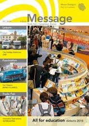 Message issue 1/2014 - Messe Stuttgart