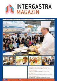 intergastra magazin - Messe Stuttgart