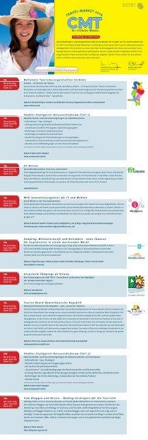 CMT Travel Market Programm 2014 - Messe Stuttgart