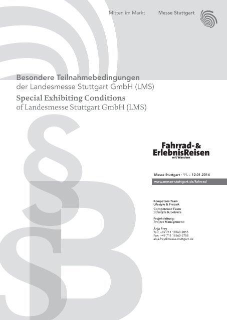 Besondere Teilnahmebedingungen - Messe Stuttgart