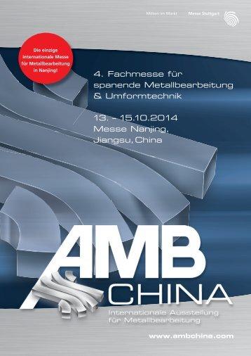 AMB China 2014 Ausstellerprospekt - Messe Stuttgart