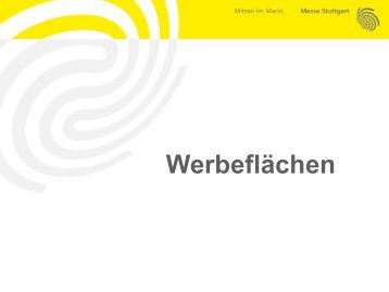 Werbeflächen der Messe Stuttgart