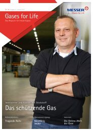 Das schützende Gas Gases for Life - Messer Group