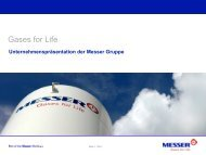 Gases for Life - Unternehmenspräsentation 2013 - Messer Group