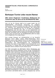 Barkeeper-Turnier unter neuem Namen - Messe Stuttgart