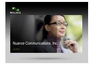 Nuance Communications, Inc. - META Net