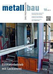 finden Sie die aktuelle Ausgabe als PDF-Download - Metallbau