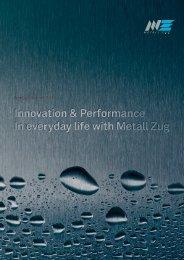 Annual report 2012 (PDF) - Metall Zug