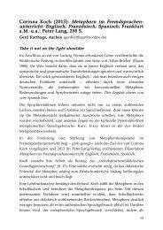 Corinna Koch (2013): Metaphern im Fremdsprachen - metaphorik.de
