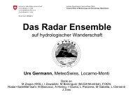Which do you trust more: a radar echo 2km above ... - MeteoSchweiz