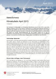 Klimabulletin April 2013 April 2013 - MeteoSchweiz - admin.ch