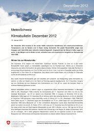 Klimabulletin Dezember 2012 Dezember 2012 - MeteoSchweiz ...