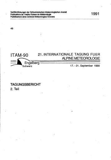 !TAM-90 21.!NTERNAT!ONALE TAGUNG FUER ... - MeteoSchweiz
