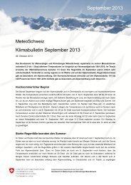 Klimabulletin September 2013 September 2013 - MeteoSchweiz