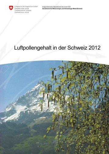 Luftpollengehalt in der Schweiz 2012