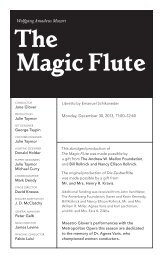 The Magic Flute - Metropolitan Opera