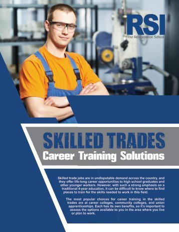 White Paper: Skilled Trades Career Training Solutions