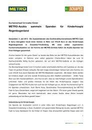 Pressemitteilung_Metro Azubis sammeln Spenden für Kinderhospiz