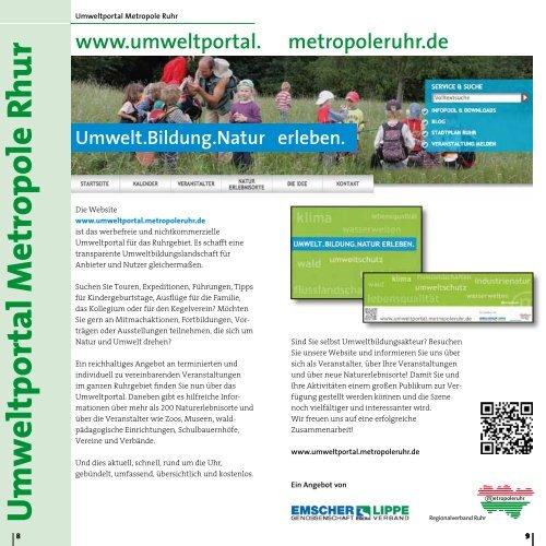 PDF Natur erleben 2014 - Metropole Ruhr