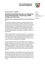 Kabinett beschließt Eckpunkte zur Umsetzung der ... - Metropole Ruhr
