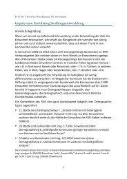 Aktuelle Tendenzen der Siedlungsentwicklung - Metropole Ruhr