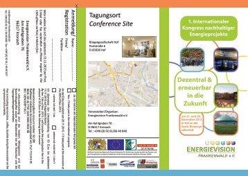 Tagungsort Conference Site - Europäische Metropolregion München