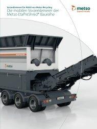 Die mobilen Vorzerkleinerer der Metso EtaPreShred ... - Metso.com