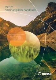 Metsos Nachhaltigkeits-handbuch