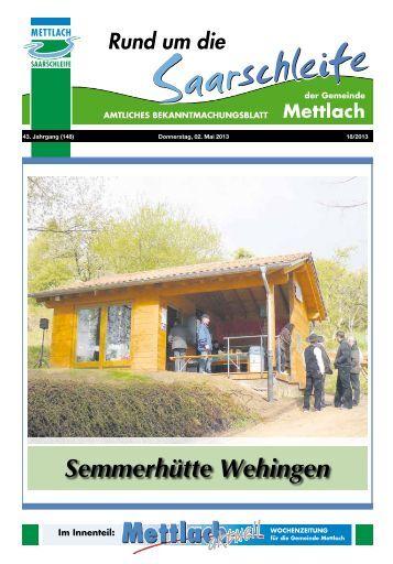 Semmerhütte Wehingen - Gemeinde Mettlach